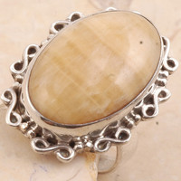 Gorgeous Yellow Lace Agate in 925 Sterling Silver