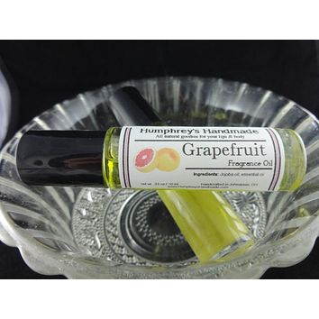 GRAPEFRUIT Fragrance Roll-On | Essential Oil | Citrus | Golden Jojoba Oil