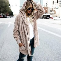 Fuzzy Hooded Jacket