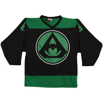 Overkill Men's  Logo Hockey Jersey Black