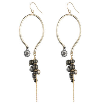Crystal Encrusted Dangling Pearl Wire Earring | Alexis Bittar