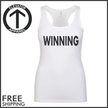 Winning. Racerback Jersey. Womens Clothing. Exercise. Motivation. Fitted. Jogging. Health And Wellness. Workout Tanks. Fitness Tanks. Gym.