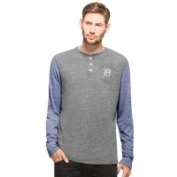 ONETOW MLB 47 Brand Detroit Tigers Mens Midfield Henley