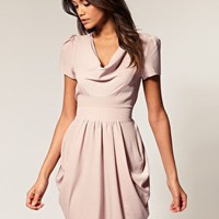 ASOS | ASOS Tulip Dress with Cowl Neck at ASOS