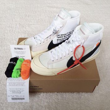 DCCKIN2 NIKE x OFF WHITE Blazer Mid - UK 8 / EU 42.5 - Deadstock