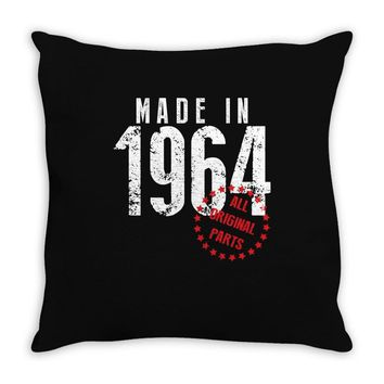Made In 1964 All Original Parts Throw Pillow