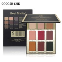 COCOSH SHE 9 Colors Matte Eyeshadow Palette Make Up Set Pallete Beauty Eye Shadow Cosmetic  Matt Eyeshadow Palette