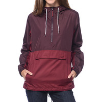 Empyre Cillian Burgundy Mesh Lined Pullover Jacket
