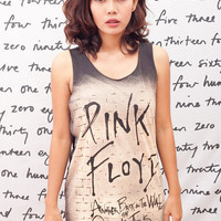Pink Floyd T Shirt The Wall David Gilmour Art Indie Rock Women Black T-Shirt Vest Tank Top Singlet Sleeveless Size S M