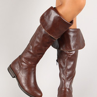 Bamboo Montana-23 Round Toe Thigh High Riding Boot