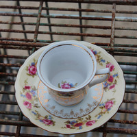 Demitasse Tea Cup and Saucer