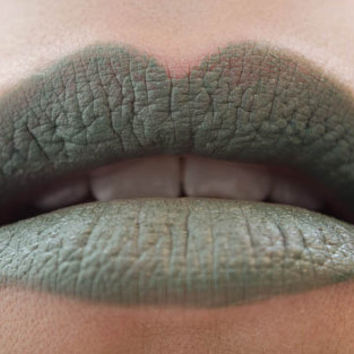 Olive My Love : a bold, semi-matte, vegan, opaque muted olive green lipstick