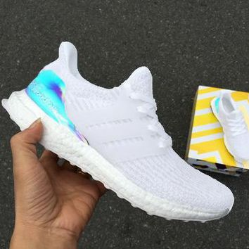 Adidas Ultra Boost UB4.0 Laser Black/White Women Men Sports Shoes Comfortable Sneakers Laser Tail White