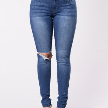 Change Locations Jeans - Medium Blue