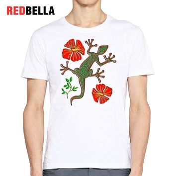 REDBELLA Art Design Men Tees Tribal Vintage Tattoo Punk Style Hipster Cool Pattern Tshirt O-neck Casual Cotton Tumblr Clothing