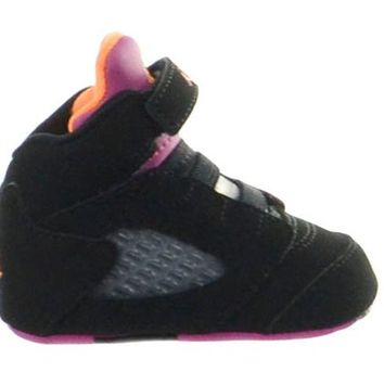 Jordan 5 Retro (GP) Crib Baby Shoes Gift Pack Black/Bright Citrus-Fusion Pink 552494-067-4