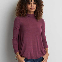 AEO Soft & Sexy Turtleneck T-Shirt, Burgundy