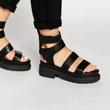 Truffle Collection Ocean Chunky Gladiator Sandals at asos.com