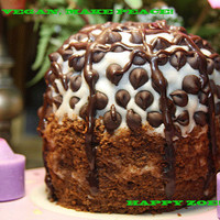 Vegan Mini Celebrity Chocolate cake and Vanilla suprise, Natural and Healthy ingredients,Love,Birthday,Wedding.