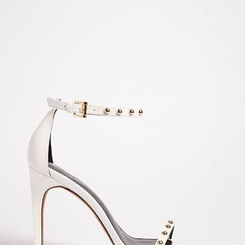 Open-Toe Stud Heels