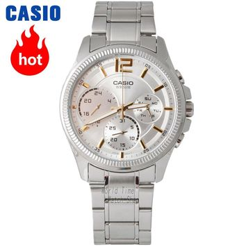 Casio watch Fashion simple leather strip with waterproof quartz watch MTP-E305D-7A MTP-E305L-7A2