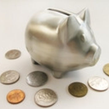Silver Plated Pig Bank 23138 - Engraveable