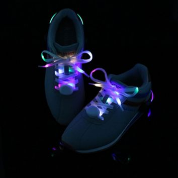 LED Shoelaces Light Up Shoe Laces with 3 Modes in 5 Colors Flash Lighting the Night for Party Hip-hop Dancing Cycling