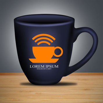 Coffee Wi fi Network Logo Design Vector for Your Future Business