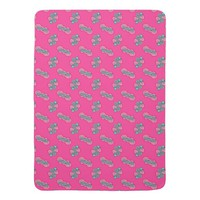 Pink Abstract Baby Blanket