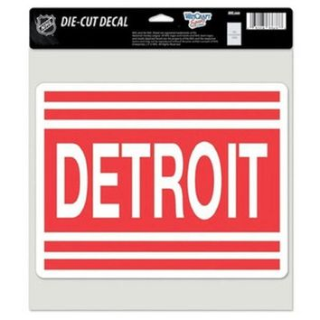 ESBON NHL DETROIT RED WINGS RETRO LOGO FULL COLOR CAR WINDOW STICKER DECAL 8X8 INCHES