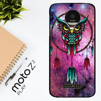 Dreamcatcher Owl R0109 Motorola Moto Z2 Play Case