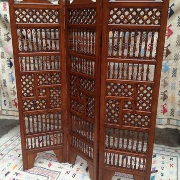 Moroccan decor  room divider decor, moorish decor cedar divider