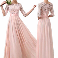 Stylish Long Chiffon Dress