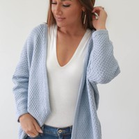 Come To Me Cardigan - Baby Blue