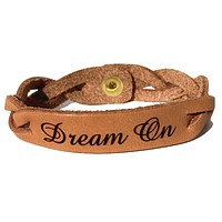 Dream On Leather Bracelet
