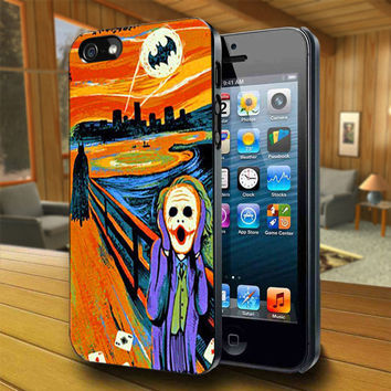 Scream Batman and Joker - Print on Hard Cover For iPhone 4/4S and iPhone 5 Case - Please Leave Message For Device And Colour Case