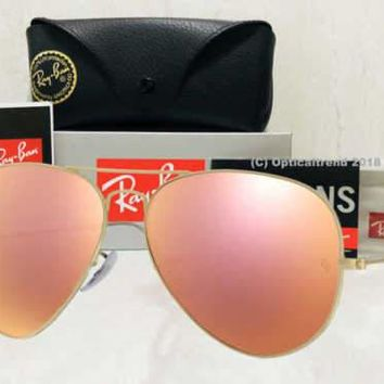 Ray-Ban Aviator Gold Frame Rose Gold (Copper) Flash Mirror Lens- RB3025 112/z2
