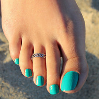 Sterling Silver Celtic Knot Toe Ring Adjustable toe ring memory tea ring