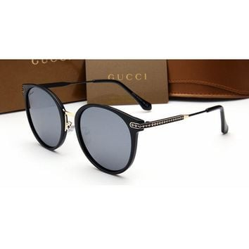 Gucci Chanel Women Casual Sun Shades Eyeglasses Glasses Sunglasses Grey G