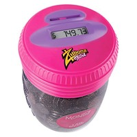 Zillionz Girl Counting Money Jar - Pink