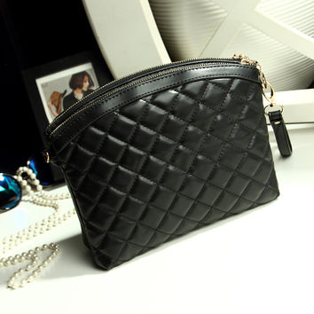 Small Size Chain Korean Simple Design Bags Stylish One Shoulder Messenger Bags [6582581447]