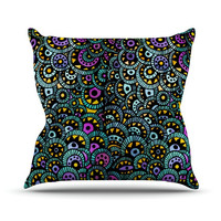 """Pom Graphic Design """"Peacock Tail"""" Throw Pillow"""