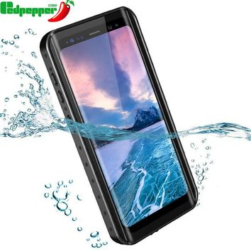 360 Full Protection Waterproof bag Phone Case for Samsung Galaxy S9 Plus Swimming diving Cover for Samsung note 9 8 shell coque