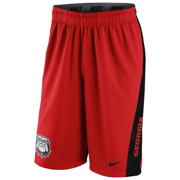 Georgia Bulldogs Nike 2014 Football Sideline Fly XL 2.0 Shorts - Red - http://www.shareasale.com/m-pr.cfm?merchantID=7124&userID=1042934&productID=540345545 / Georgia Bulldogs