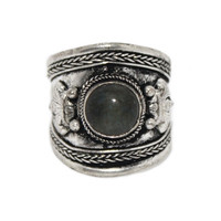 Labradorite Ring, Adjustable Ring, yoga ring