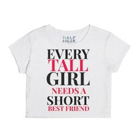 Best Friends Tall Short Crop Top tee 2-Female Snow T-Shirt