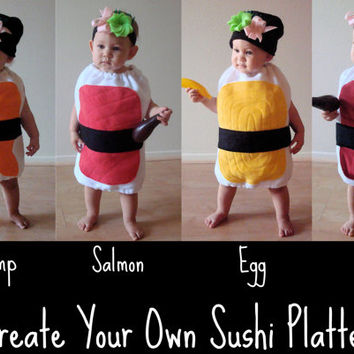 Baby Halloween Costume Sushi Costume Photo Prop Newborn Infant Toddler