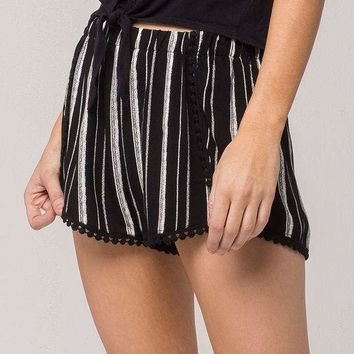 IVY & MAIN Stripe Womens Wrap Shorts