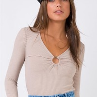 Pascal Long Sleeve Top Beige