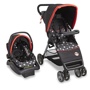 Disney Baby Stroller Travel System with Infant Car Seat, Mickey Mouse